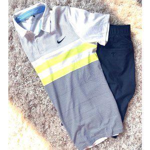 Nike Men's Modern Fit Transition Stripe Golf Polo